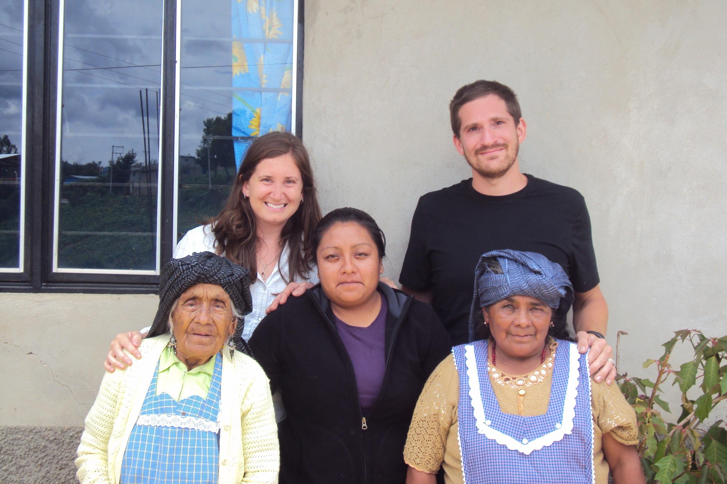 With the grandmas!