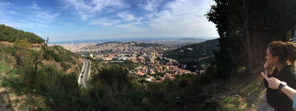 Overlooking Barcelona.