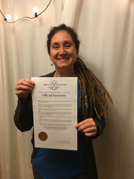 Posed with my official proclamation.