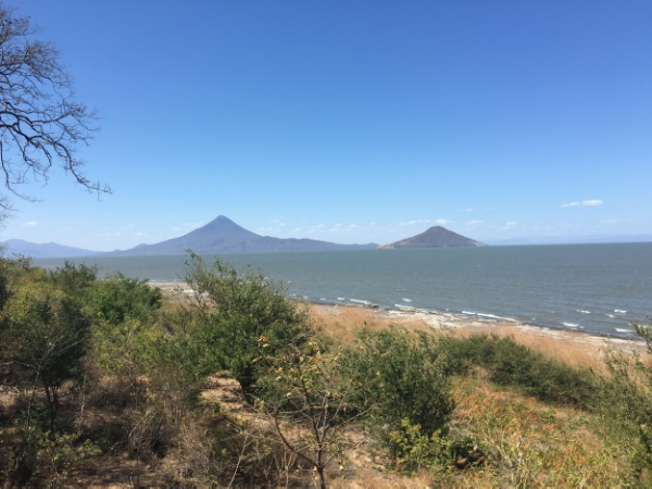 Momotombo and Momotombito - the first volcanos I've ever seen!
