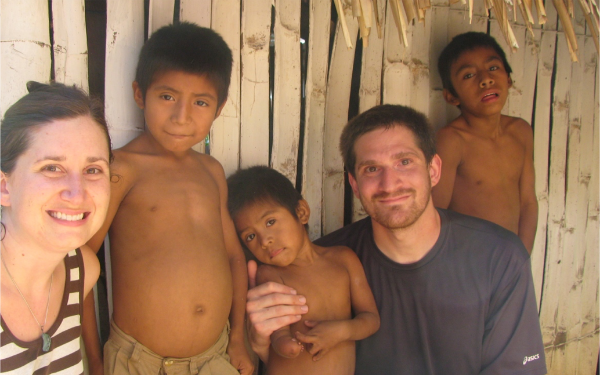 Rigoberto (in the center) with Bryan, his brothers and me in 2009.