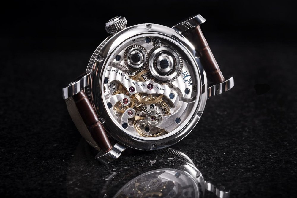 RGM   's in-house Caliber 801, inspired by America's watchmaking history