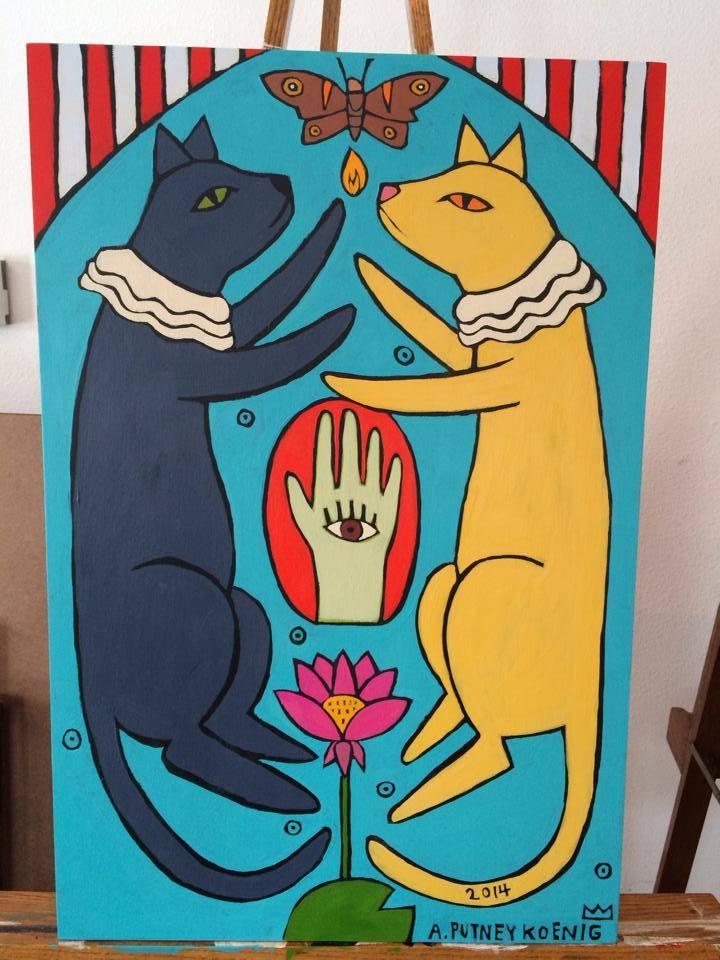 Lotus Cats painting.jpg