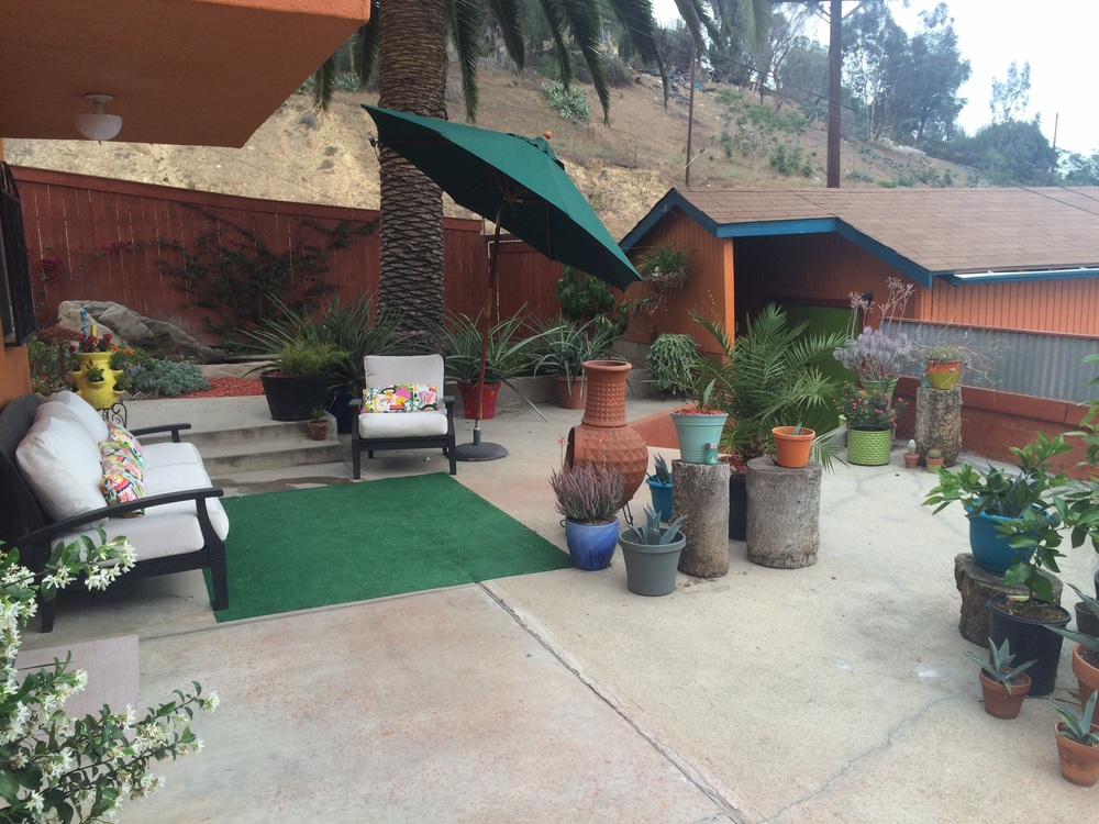 One of the many outdoor areas.