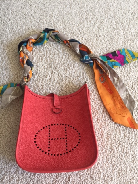 hermes bag with scarf