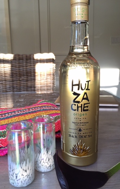 HUI ZA CHE / TEQUILA REPOSADO /  gift from the birthday boy, made by his family.
