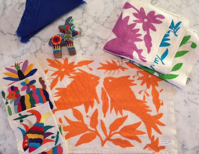 Colorful  handmade placemats & napkins.