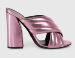 Love this groovy Metallic Crossover Sandal