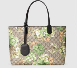 Reversible Leather GG Blooms Leather Tote.