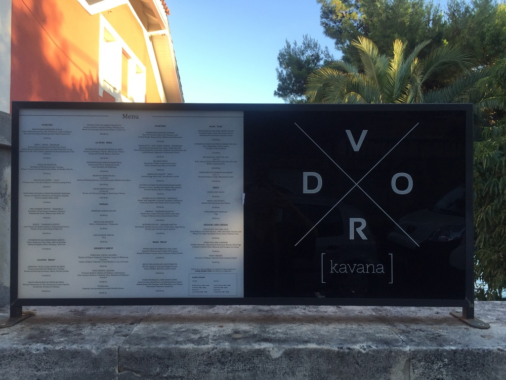 DVOR - Another popular restaurant on the water, located outside of the village. It's about a 25-minute walk or a 5-minute taxi ride. We decided to stay in the village for our meals, but it's worth the walk to relax on the patio and observe in the guys playing Picigin.
