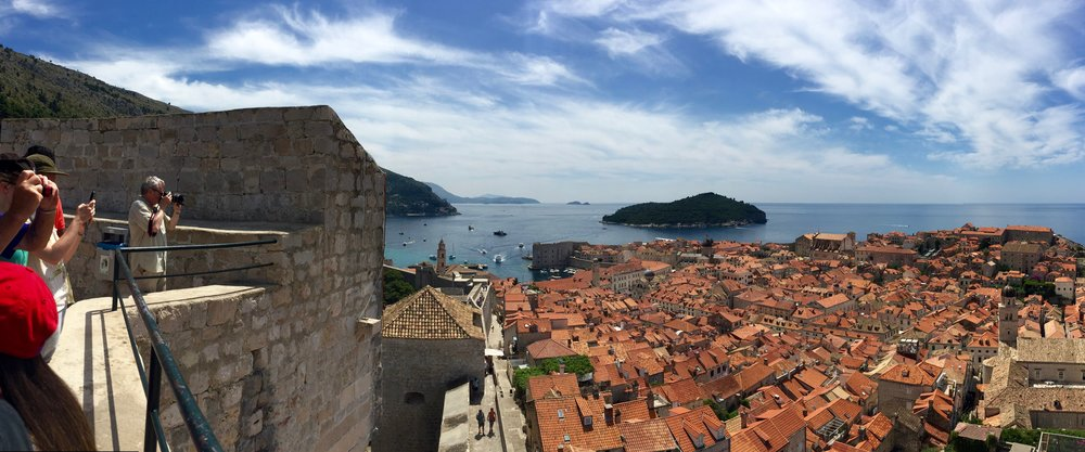 Dubrovnik's famous city walls