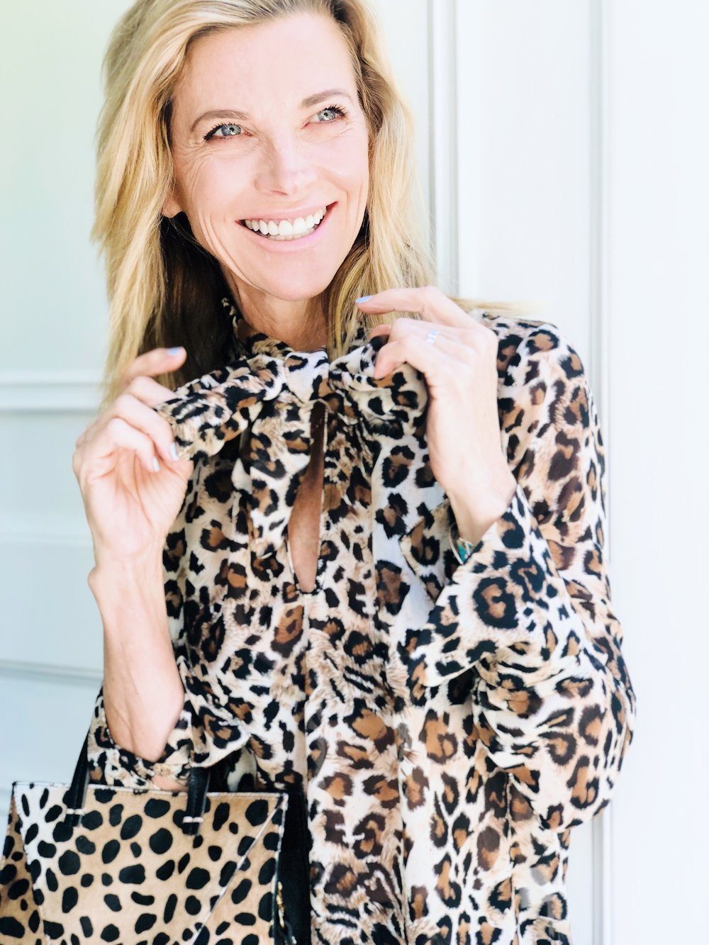 Janet Tie-Top in Leopard   from The Grateful Gardenia X Franne Golde Petite Capsule Collection. Use  GG15  for 15% off your entire order!
