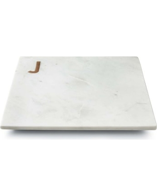 Williams Sonoma Marble & Brass Monogram  Cutting Board