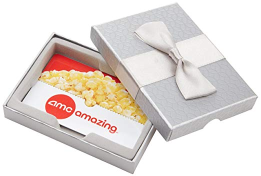 AMC Theatres Gift Cards in a gift box