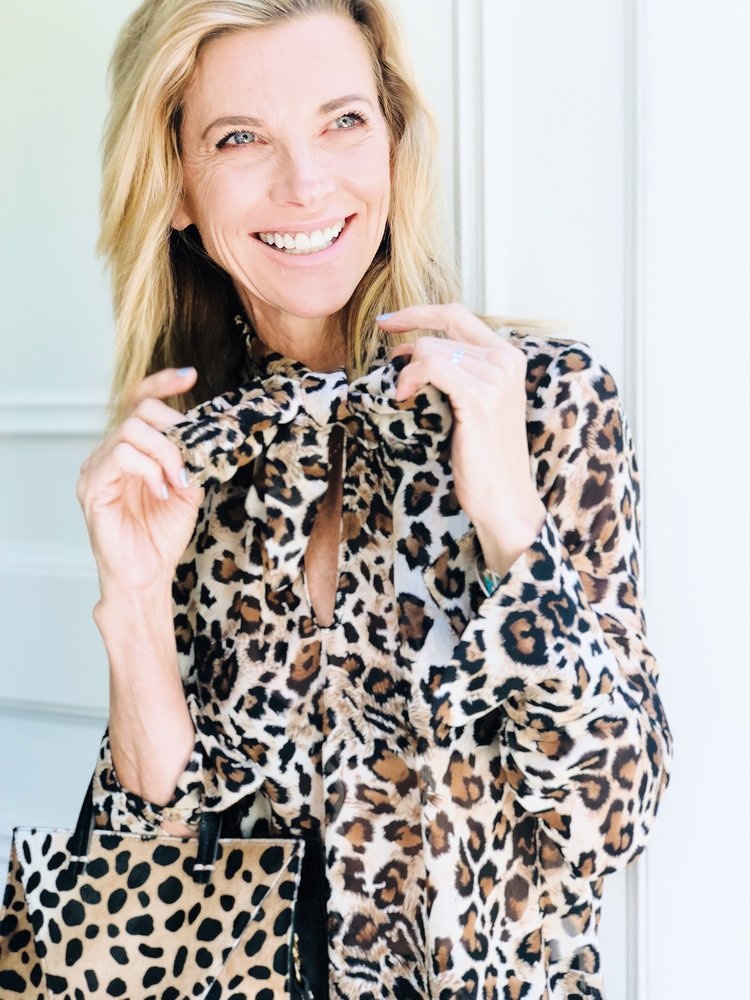 The Grateful Gardenia x Franne Golde Petite Leopard Tie-Top