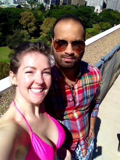 Rooftop patio selfie!
