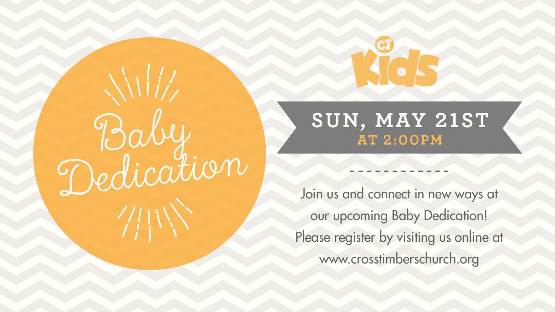 Kids Baby Dedication Cross Timbers Church
