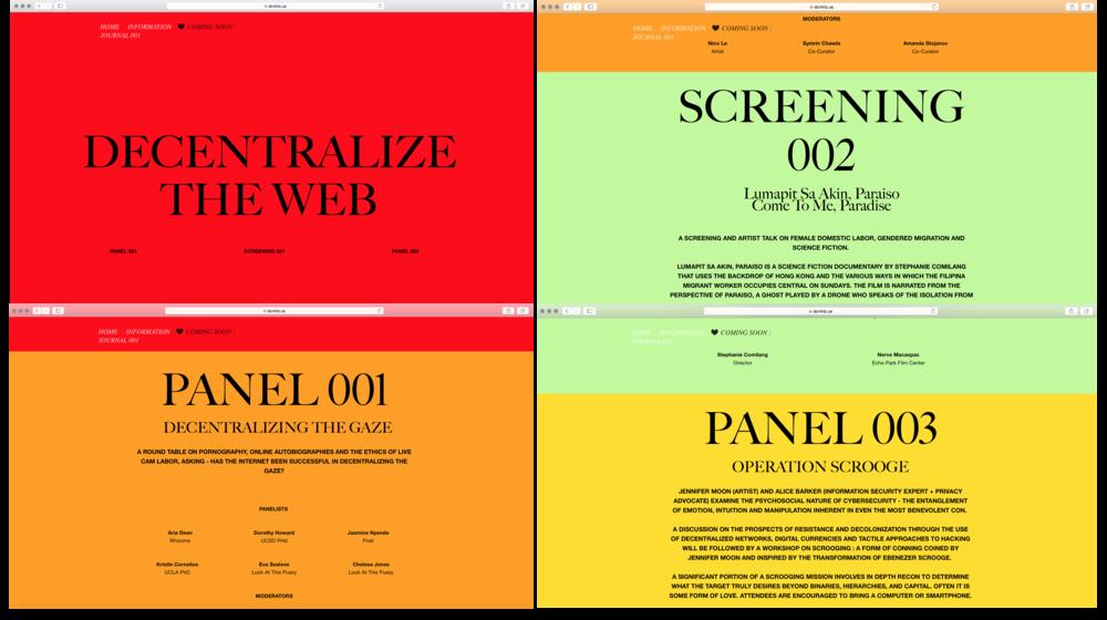 Decentralizing The Web : Web Design