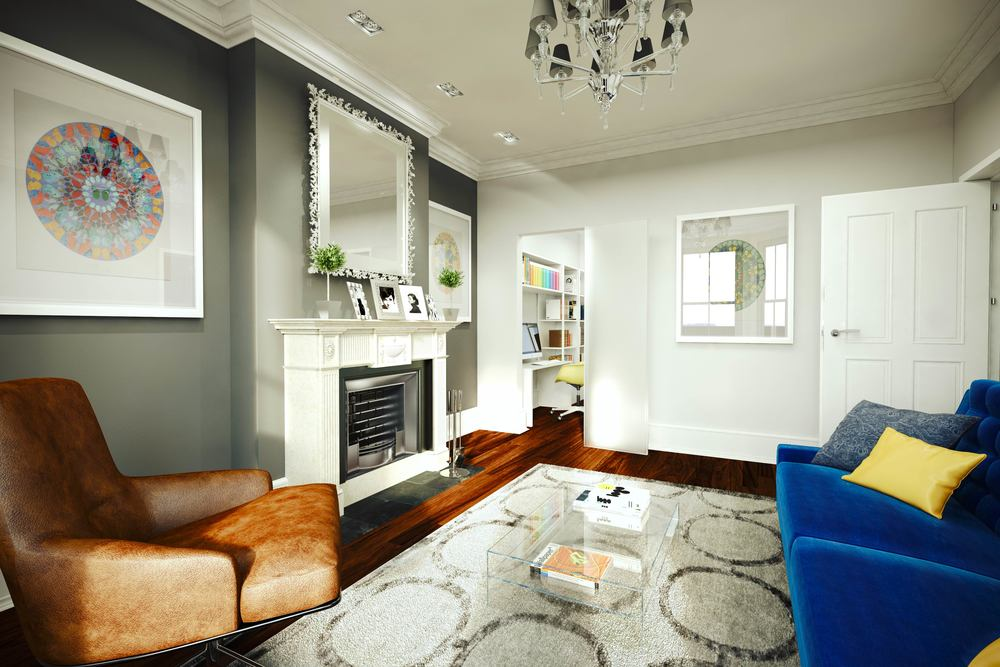 Visuals and Video - Living Room interior 4 Merthyr Terrace, SW13