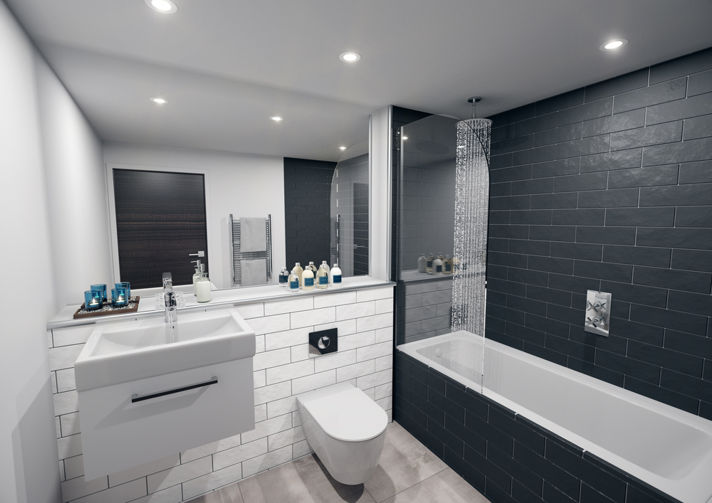Visuals and Video - Bathroom interior Gray