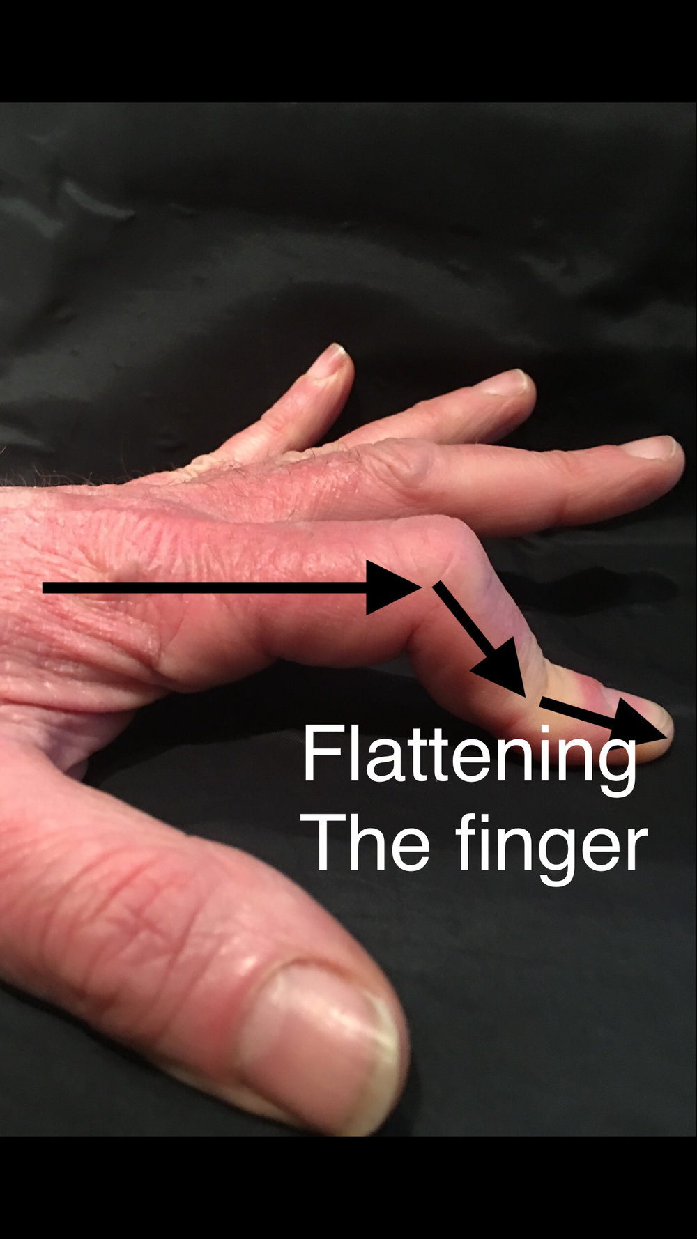 flatten finger   - Left hand exercise to learn to flatten the finger, which is key to being able to bridge across 3 strings using only one finger.