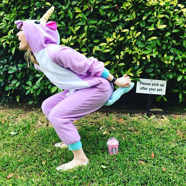 Happy Friday!!! We loved the Unicorn Starbucks drink! #unicorn #starbucks #drinks #fridayafternoon #friday #almosttheweekend #rainbow #funny #haha #squattypotty