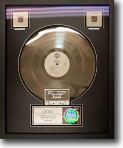 Platinum Record In a Shadow Box