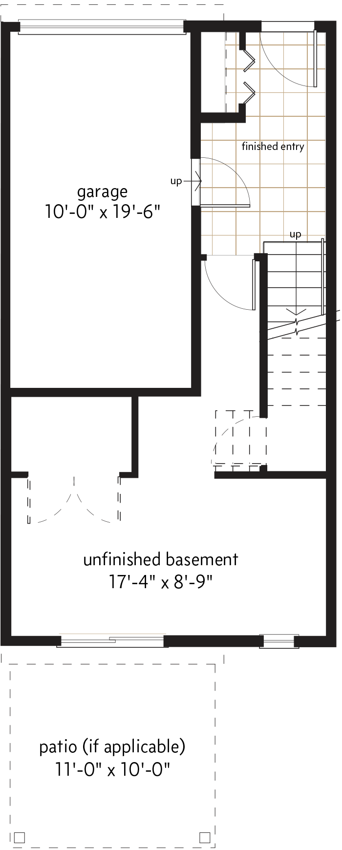 BASEMENT LEVEL  |  92 SQ. FT.