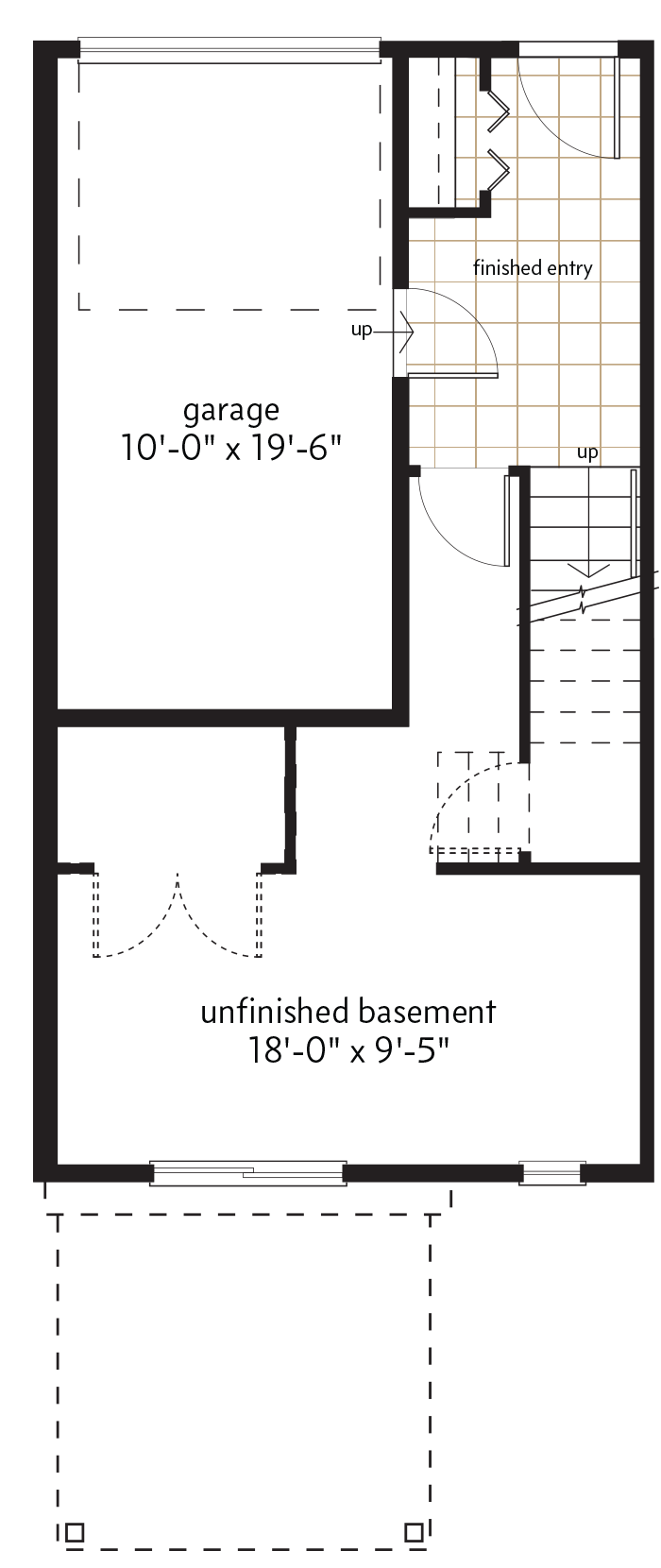 BASEMENT LEVEL  |  96 SQ. FT.