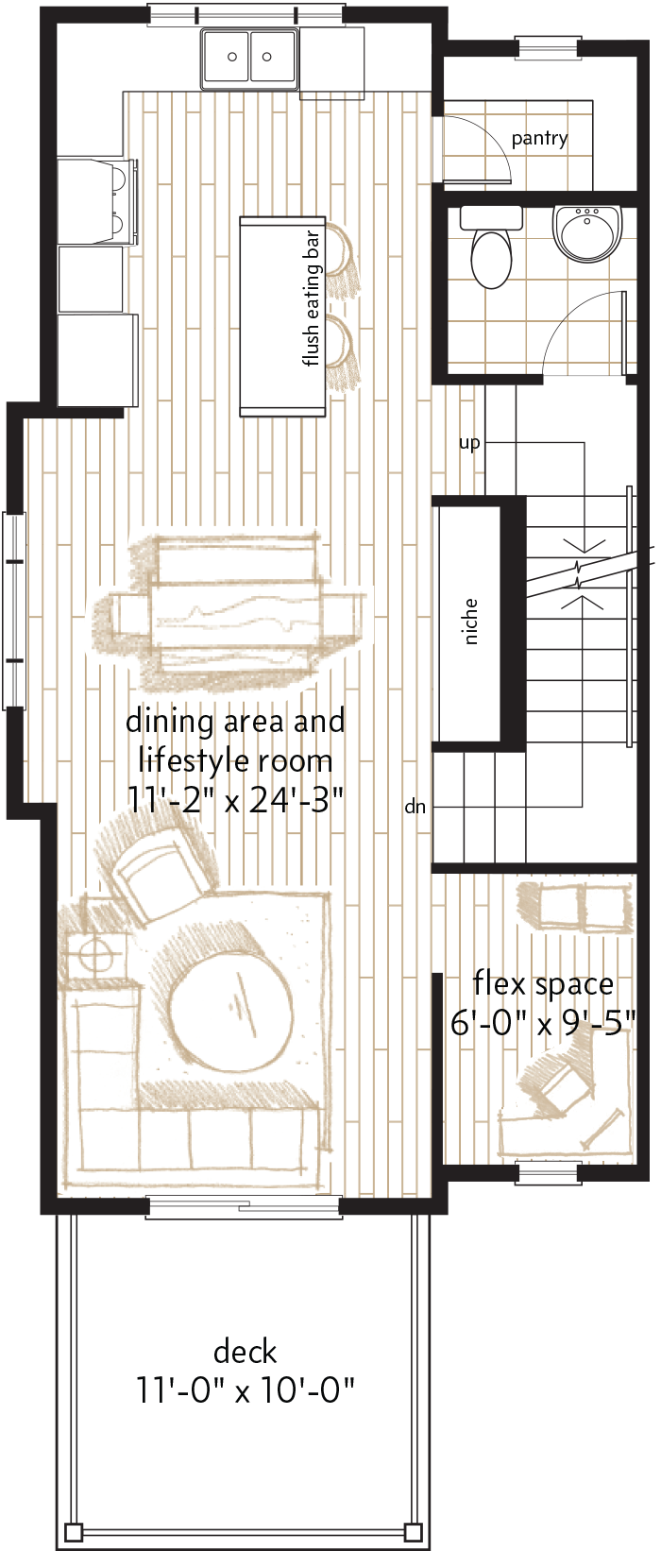 MAIN LEVEL  |  653 SQ. FT.