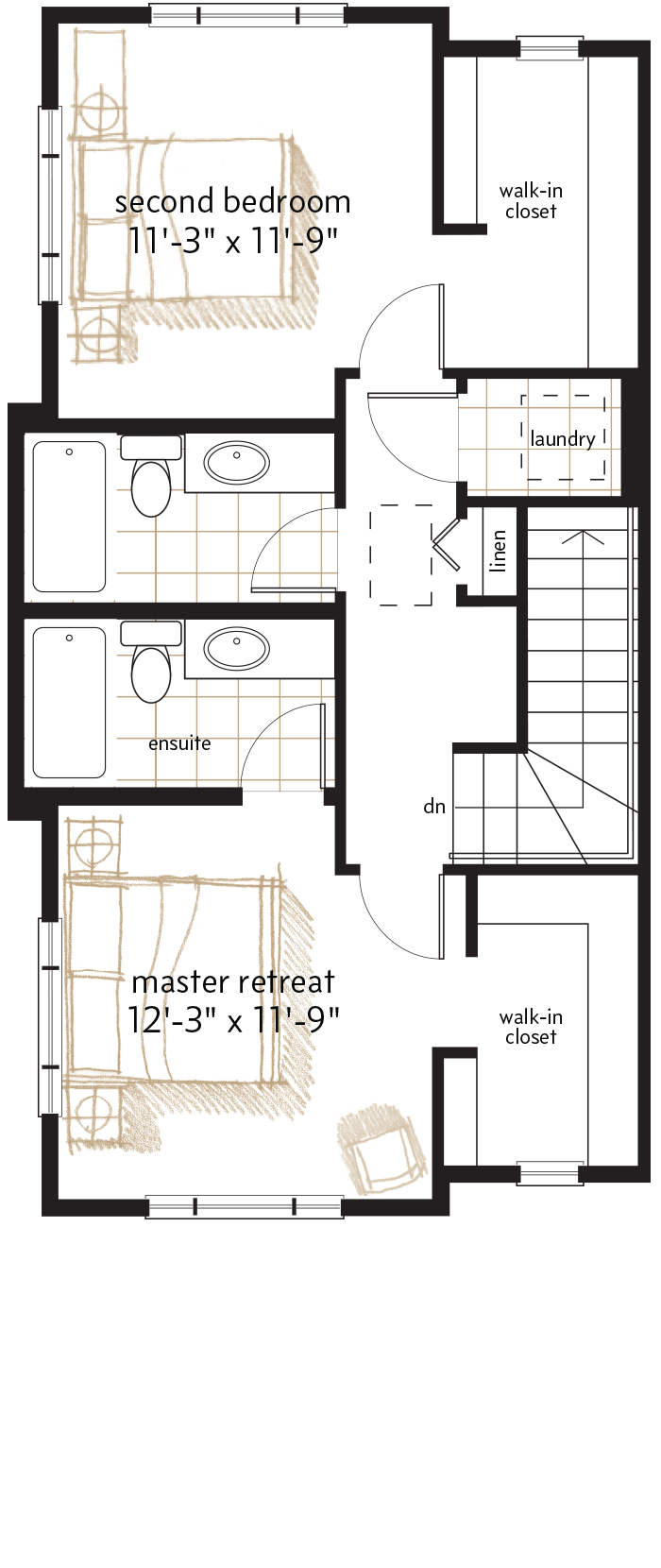 UPPER LEVEL  |  653 SQ. FT.