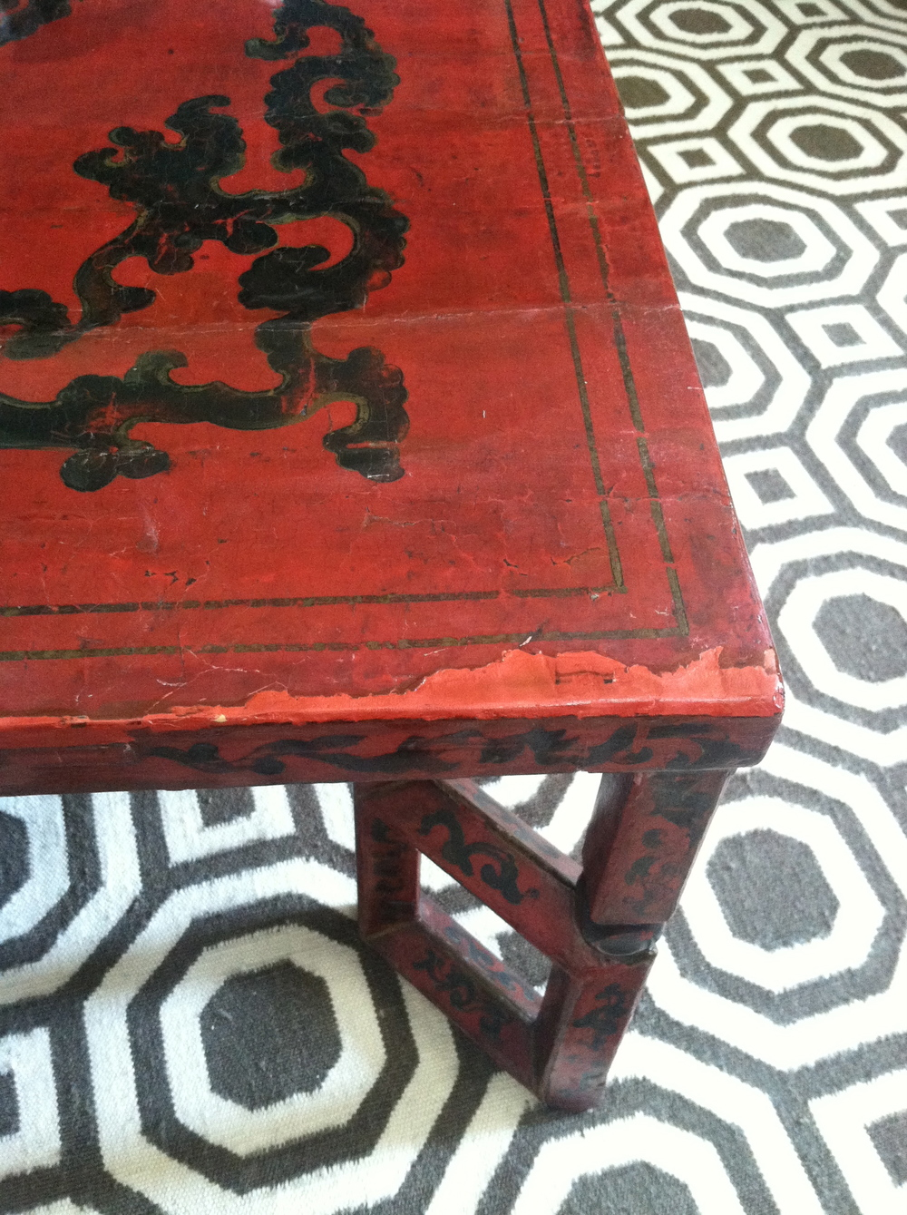 lacquer low table during restoration