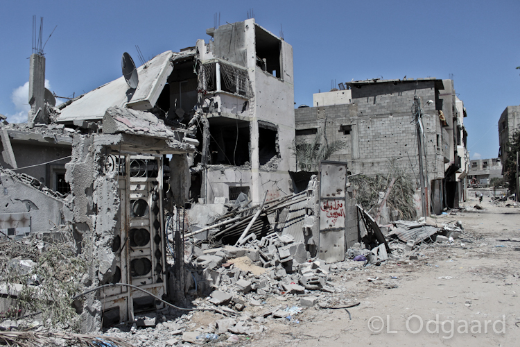 Shejaiya Gaza buildings destroyed