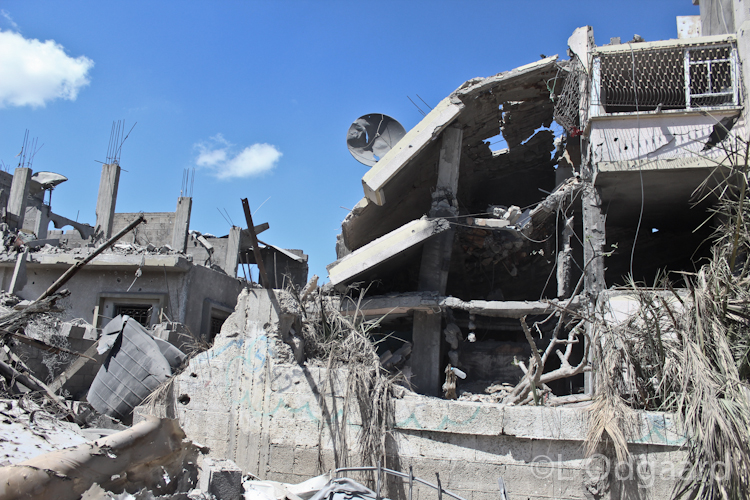 Destroyed building in Shejaiya