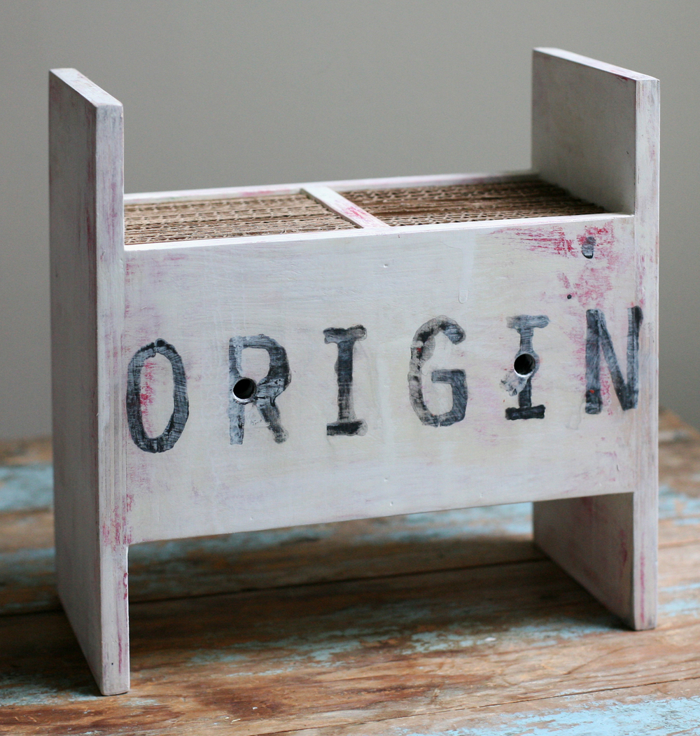Origin, polychrome wood, 2014