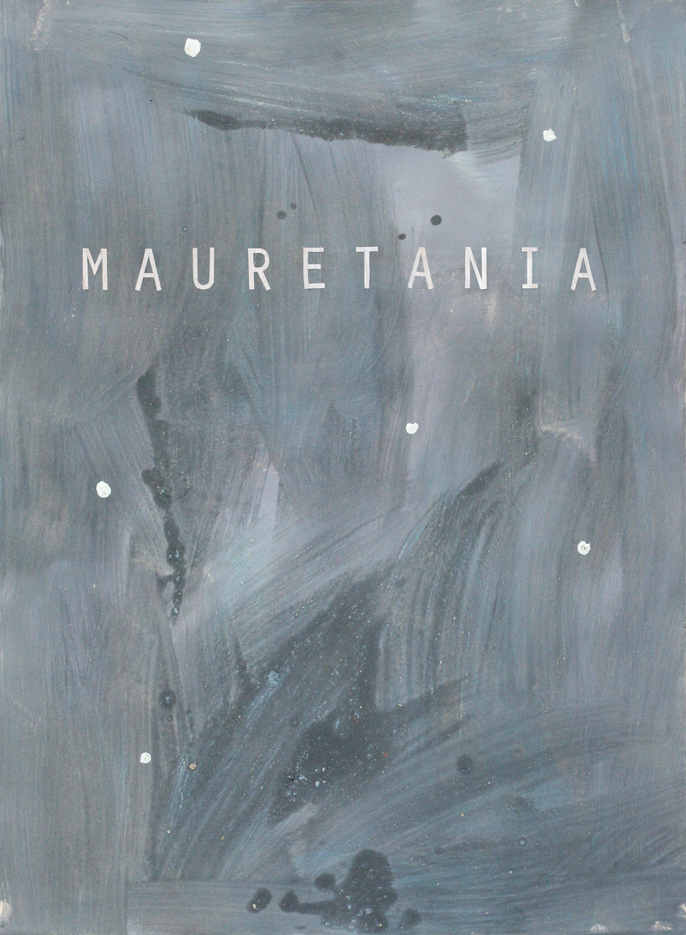"Mauretania, acrylic on paper on board, 30"" x 22"""