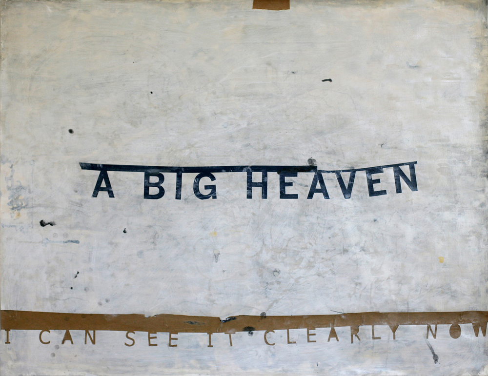 A Big Heaven, acrylic and paste on paper (private collection)