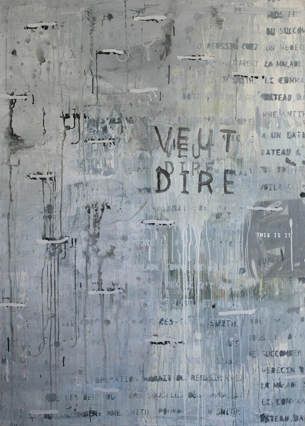 Veut Dire, acrylic on canvas