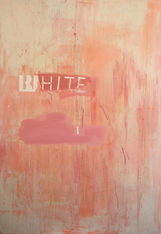 White, acrylic on canvas