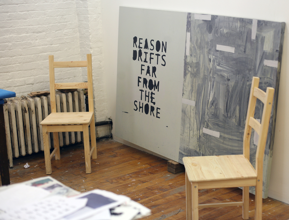 Reason Drifts in New York studio (private collection)