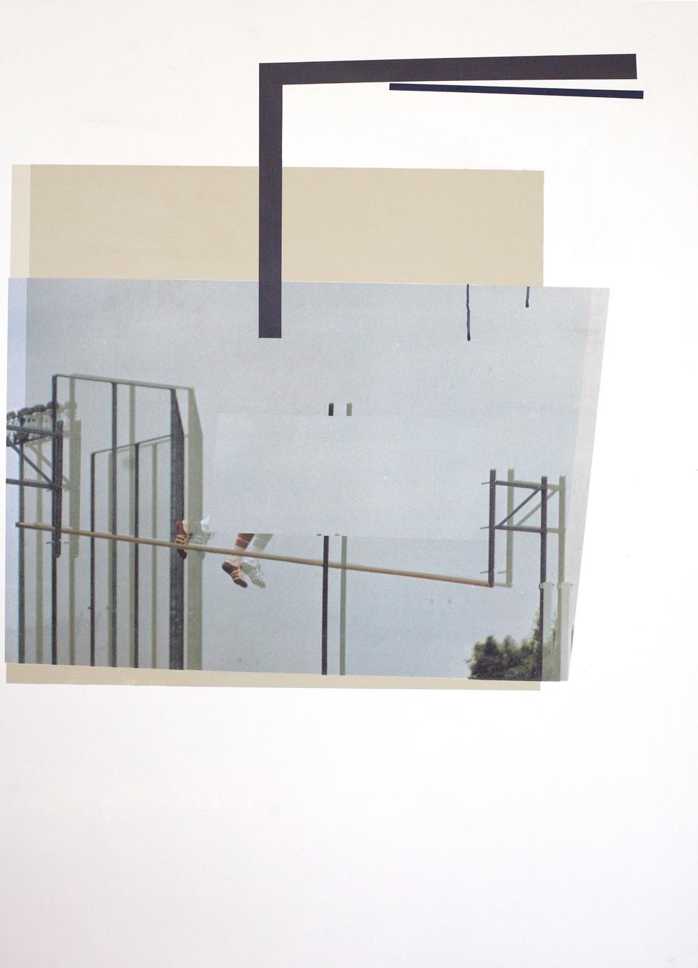 "Jump Me, digital print + acrylic, 48"" x 34"""