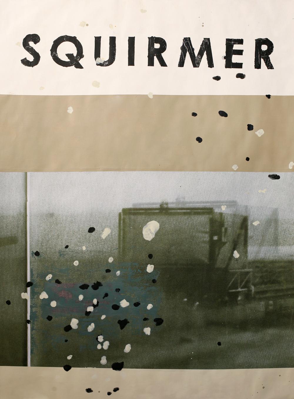"Squirmer, digital print + acrylic, 48"" x 34"""