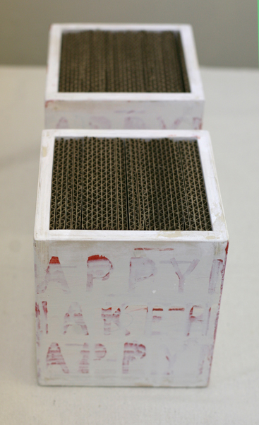 Make Happy, polychrome wood, 2013 (private collection)