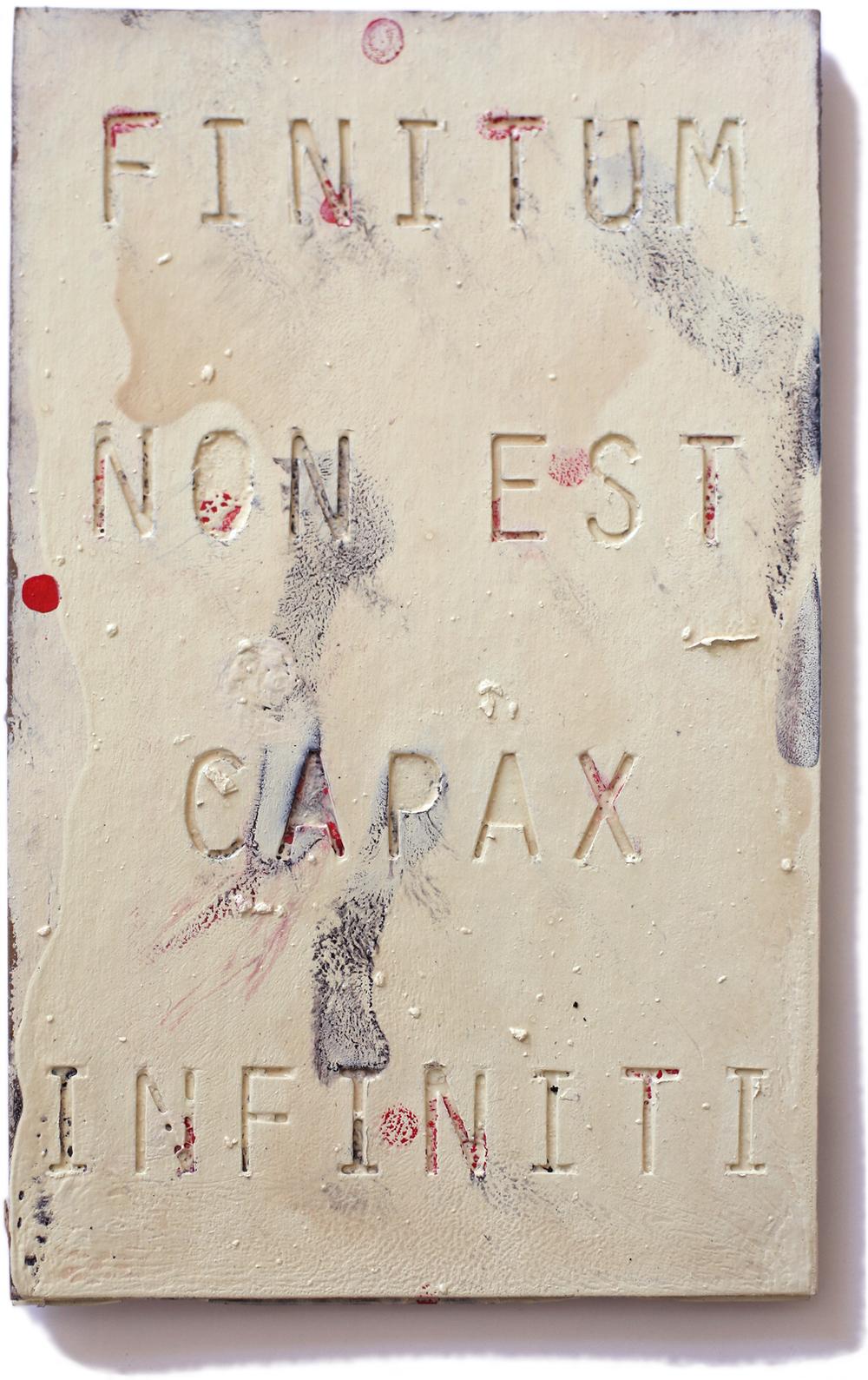 """Finitum, 10"""" x 6"""", 2011"""