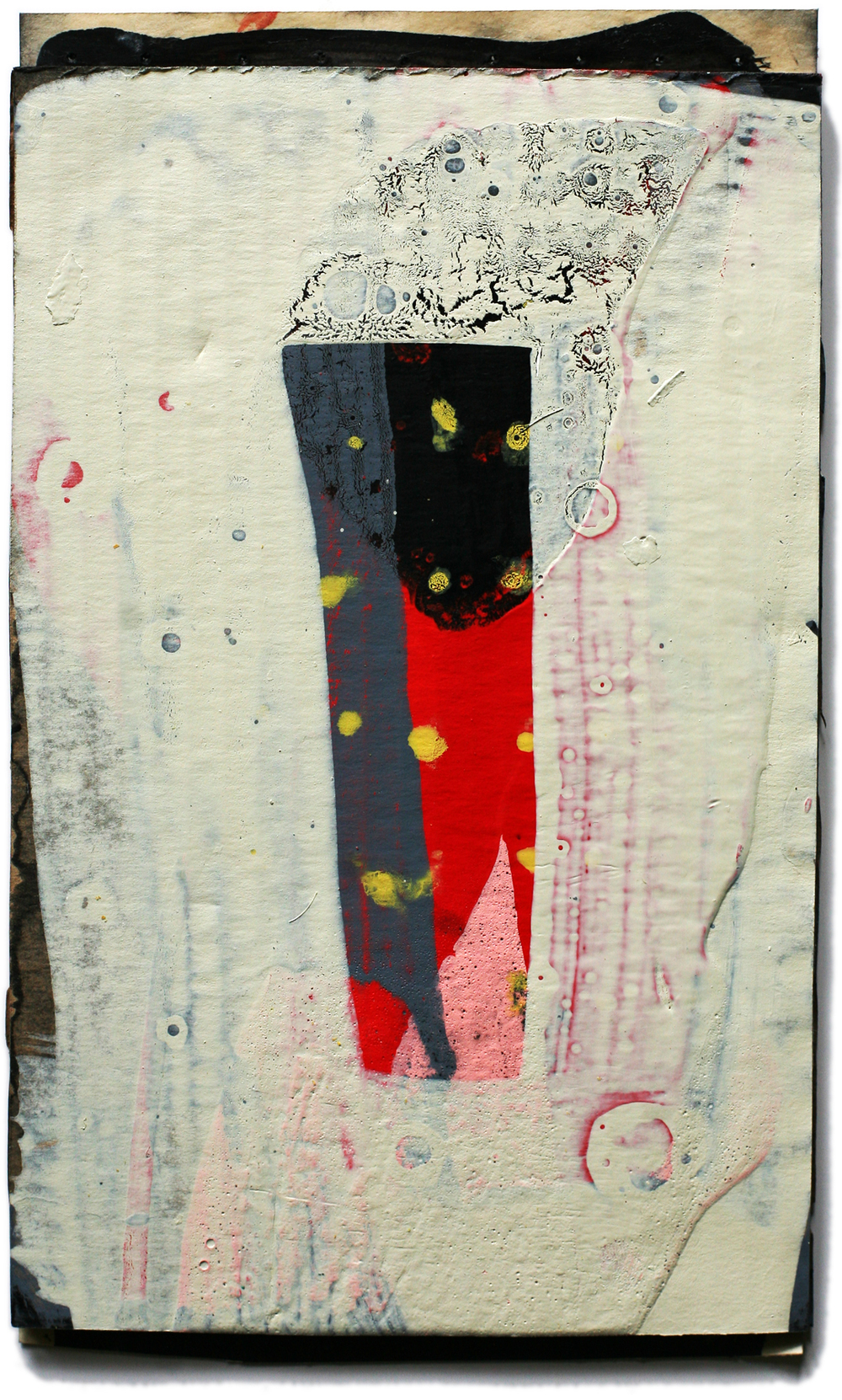 """Dogon 06, 10"""" x 6"""", mixed media on cardboard, private collection"""