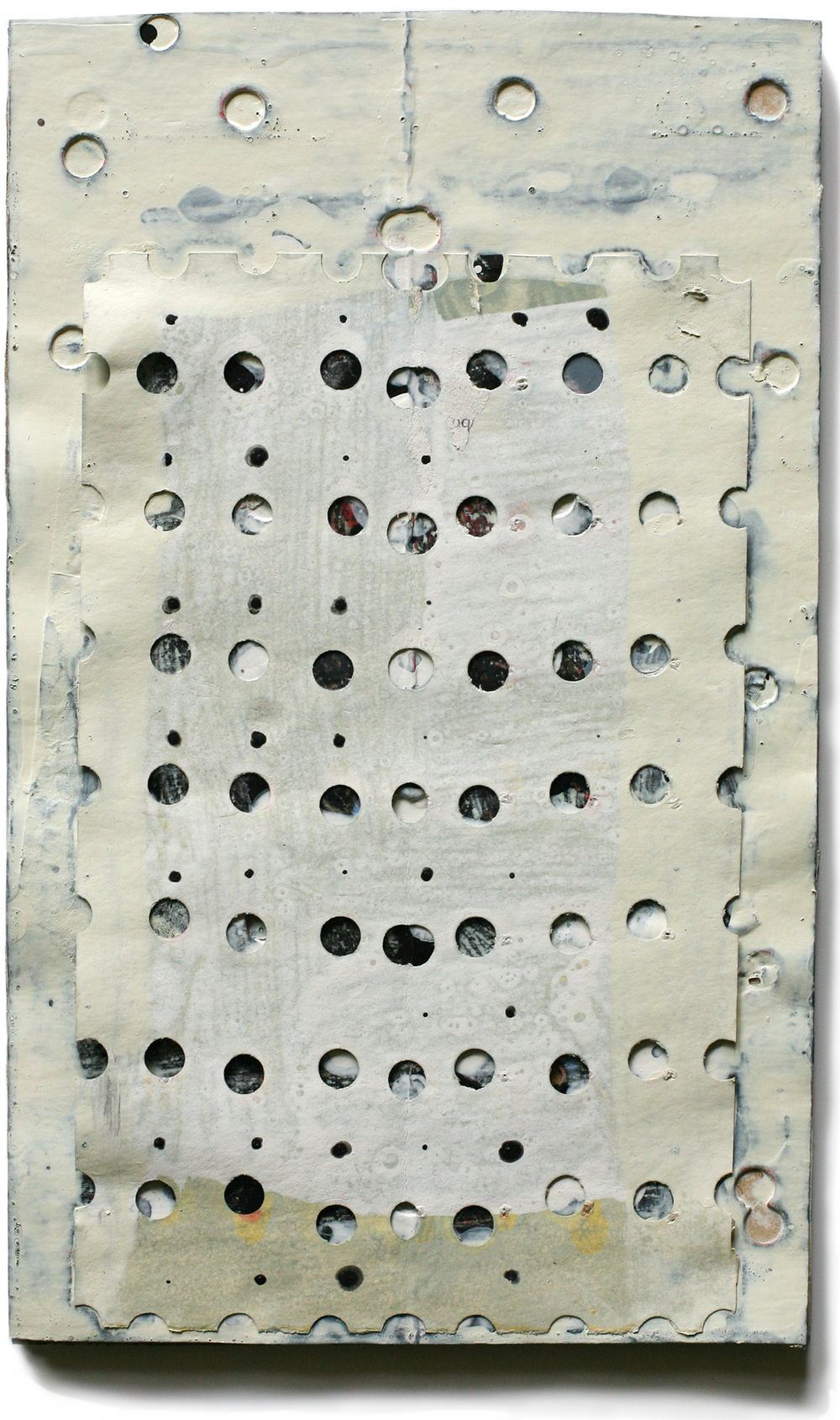 """Djenné 02, 10"""" x 6"""", mixed media on cardboard, private collection"""