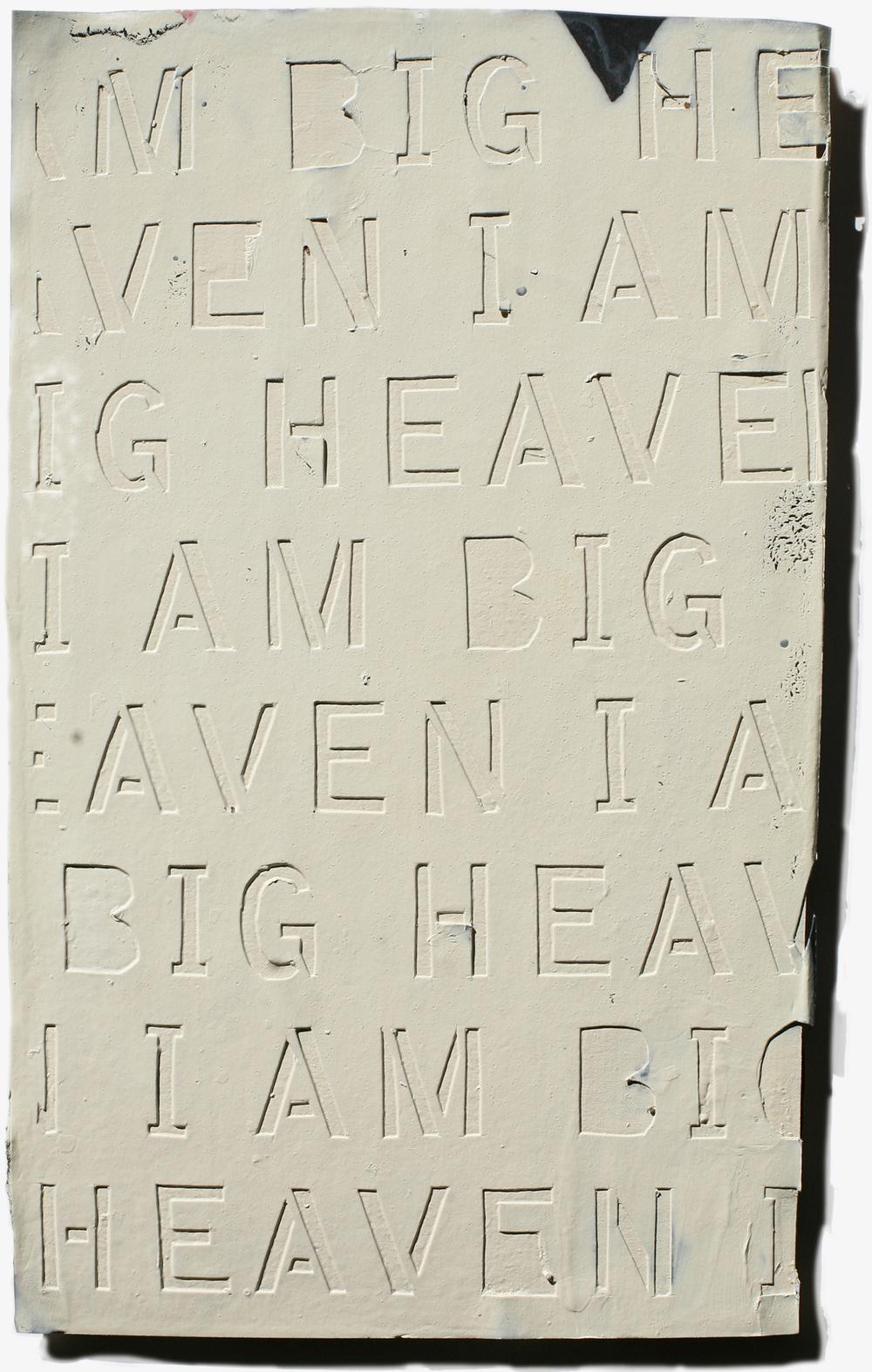 I Am Big Heaven 10.15, mixed media on cardboard