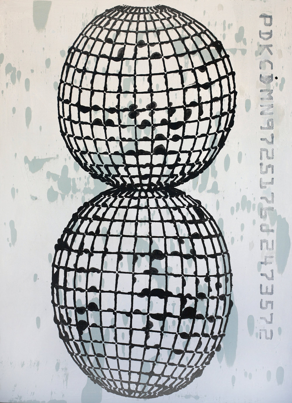 Black Conjoined Globe