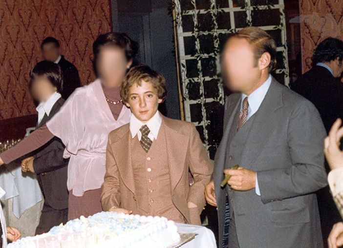 Bar Mitzvah with bouffant  (11/13/76)