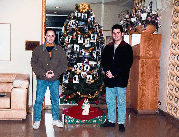 Mitch and Glenn feign holiday spirit (12/91)